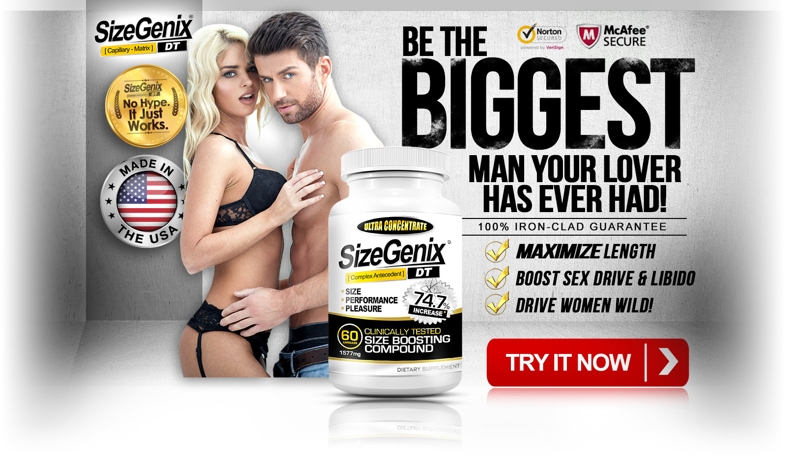 SizeGenix - Be The Biggest Man Your Lover Has Ever Had!